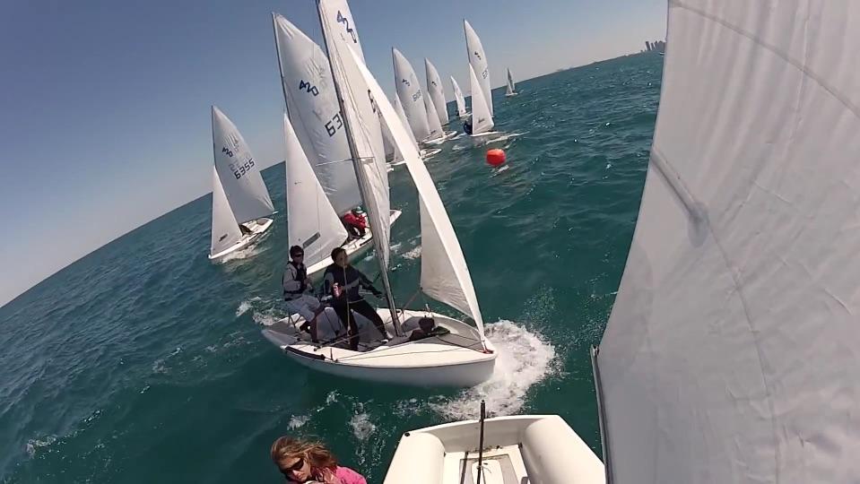 sailboats racing shot from GoPro camera