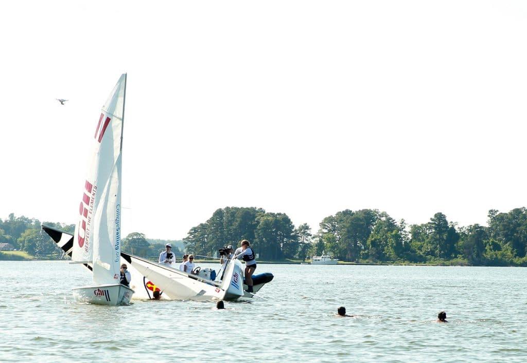 Capturing the celebration from water and air. Photo © Brian Schneider / www.ebrianschneider.com.