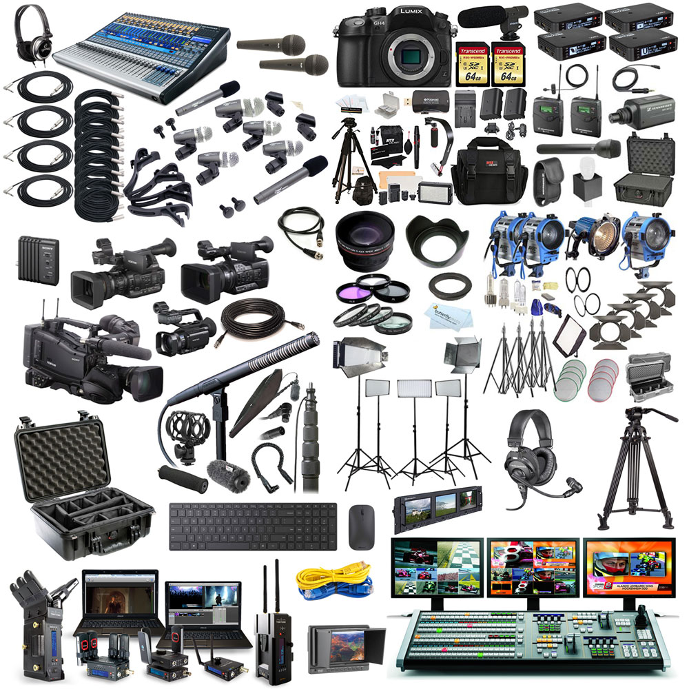 Video, audio, lighting and live streaming equipment