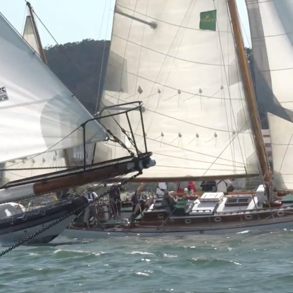Classic yachts at the 2019 Rolex Big Boat Series in San Francisco